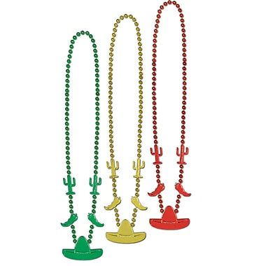 Beistle Fiesta Beads Necklace, 33
