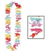 """Beistle 40"""" Floral Lei, Multicolor, 50/Pack"""