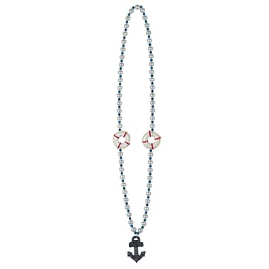 Cruise Ship Beads With Anchor Medallion, 40