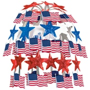 "Beistle 24"" Flag Cascade, Red/White/Blue, 2/Pack"