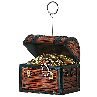 Beistle 6 oz. Treasure Chest Photo/Balloon Holder, 3/Pack