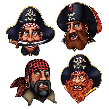 Découpes équipage de pirates, 16 po, 12/paquet