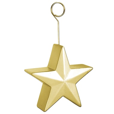 Star Photo/Balloon Holder, Gold, 3/Pack