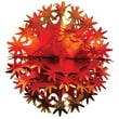Beistle 12in. Star Ball, Gold/Orange/Red, 3/Pack