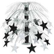 "Beistle 18"" Star Cascade Centerpiece, Black/Silver, 3/Pack"