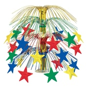 """Beistle 18"""" Star Cascade Centerpiece, Multicolor, 3/Pack"""