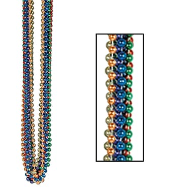 Bulk Party Beads, Small Round, 7mm x 33