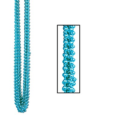 Beistle Bulk Round Party Beads Necklace, 7 mm x 33