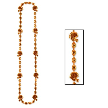 Beistle Football Beads Necklace, 36