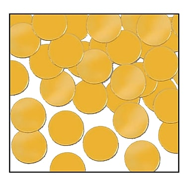 Beistle Dots Fanci Confetti, Gold, 5/Pack