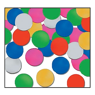 Beistle Dots Fanci Confetti, Multicolor, 5/Pack