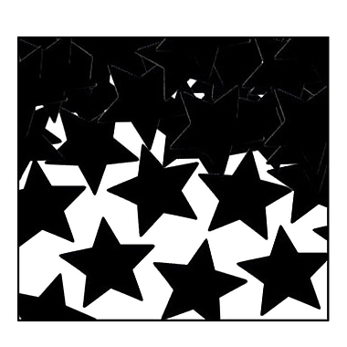 Fanci-Fetti Stars, Black, 5/Pack