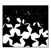 Beistle Stars Fanci Confetti, Black, 5/Pack