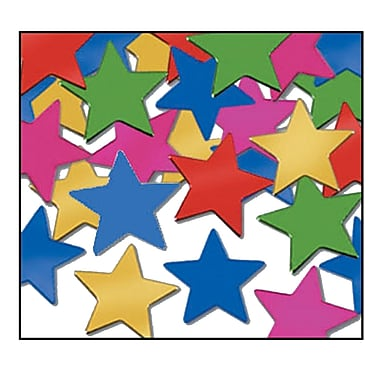 Fanci-Fetti Stars, Multi-Colour, 5/Pack