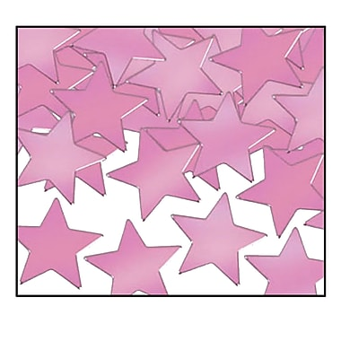 Beistle Stars Fanci Confetti, Pink, 5/Pack