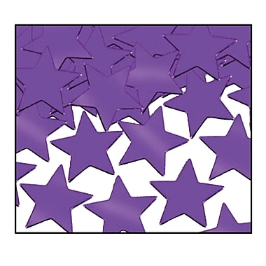 Fanci-Fetti Stars, Purple, 5/Pack