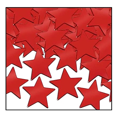 Fanci-Fetti Stars, Red, 5/Pack