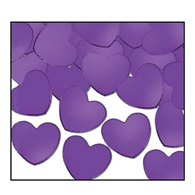 Fanci-Fetti Hearts, Purple, 5/Pack