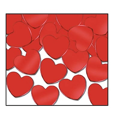 Cœurs Fanci-Fetti, rouge, 5/paquet