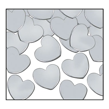 Fanci-Fetti Hearts, Silver, 5/Pack