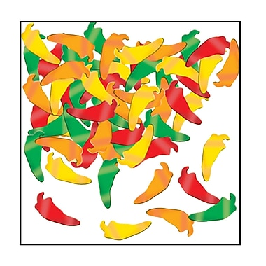 Beistle Chili Peppers Fanci Confetti, Assorted, 5/Pack