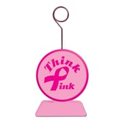 Beistle 6 oz. Pink Ribbon Photo/Balloon Holder, 6/Pack