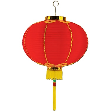 Large Good Luck Lantern With Tassel, 16