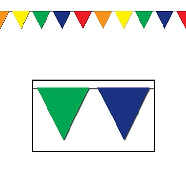 Multi-Color Outdoor Pennant Banner, 17