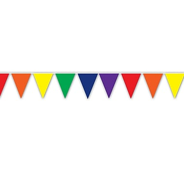 Rainbow Indoor/Outdoor Pennant Banner, 10