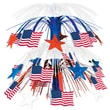 Beistle 18in. Flag Cascade Centerpiece, 3/Pack