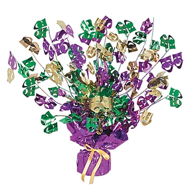 Mardi Gras Gleam 'N Burst Centerpiece, 15