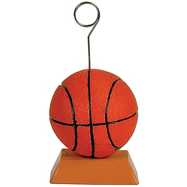 Porte-photo/porte-ballon en forme de ballon de basketball, paquet de 3