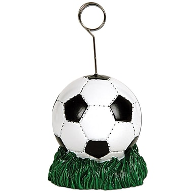 Soccer Ball Photo/Balloon Holder, Each Is 6 Ounces, 3/Pack