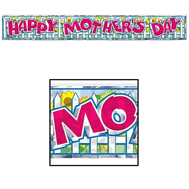 Metallic Mother's Day Fringe Banner, 8