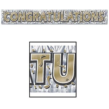 Metallic Congratulations Fringe Banner, 8