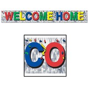 """Beistle 8"""" x 5' Welcome Home Fringe Banner, 4/Pack"""