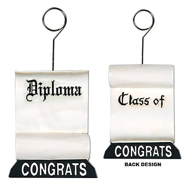 Beistle 6 oz. Diploma Photo/Balloon Holder, 3/Pack