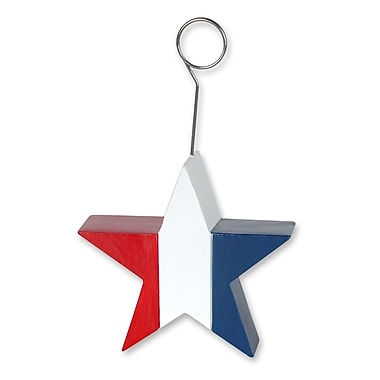 Beistle 6 oz. Patriotic Star Photo/Balloon Holder, 3/Pack