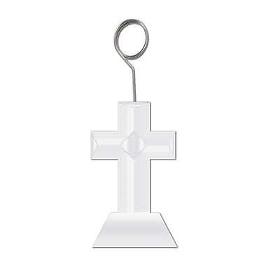 Beistle 6 oz. Cross Photo/Balloon Holder, 3/Pack