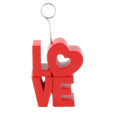 Beistle 6 oz. Red Love Photo/Balloon Holders, 3/Pack