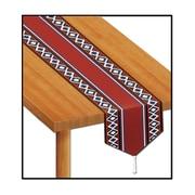 Beistle 11 x 6' Printed Western Table Runner, 4/Pack
