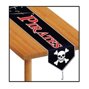 "Beistle 11"" x 6' Printed Beware Of Pirates Table Runner, 4/Pack"