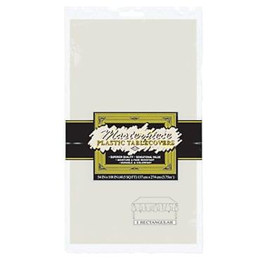 Nappe rectangulaire en plastique, 54 x 108 po, ivoire, paquet de 6