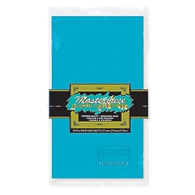 Nappe rectangulaire en plastique, 54 x 108 po, turquoise, paquet de 6
