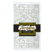 """Beistle 54"""" x 108"""" Lace Rectangular Tablecover, White, 4/Pack"""