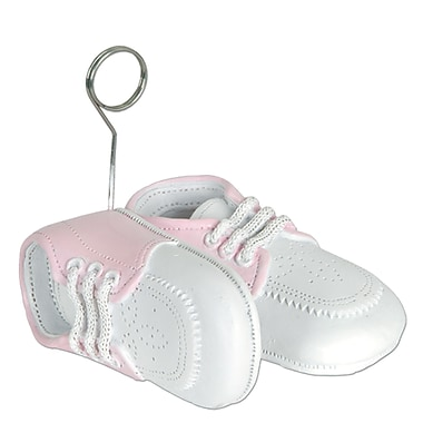 Pink Baby Shoes Photo/Balloon Holder, 3/Pack