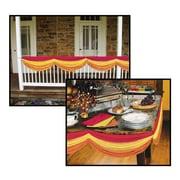 Banderole d'automne en tissu, 5 pi 10 po, dorée/orange/rouge