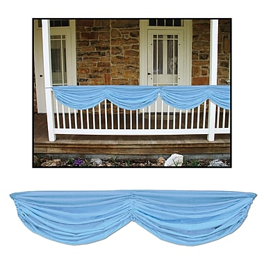 Light Blue Baby Shower Fabric Bunting, 5' x 10