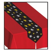 Beistle 11 x 6' Printed Stars Table Runner, 4/Pack