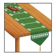 """Beistle 11"""" x 6' Printed Game Day Football Table Runner, 4/Pack"""